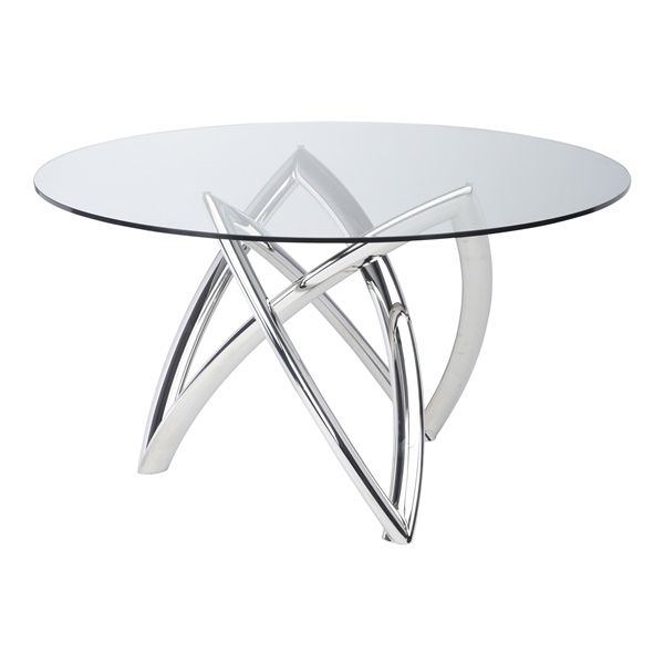 Martina Dining Table (Polished Stainless)
