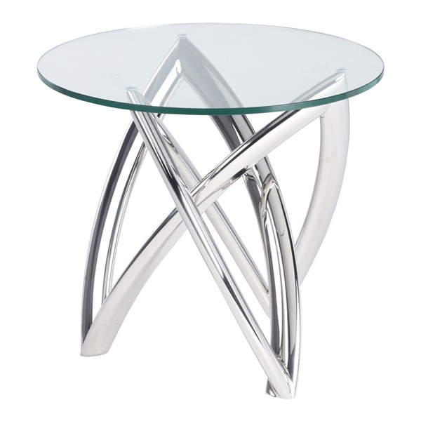 Martina Side Table (Polished Stainless)
