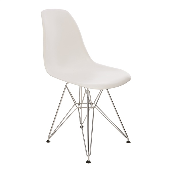 Max Dining Chair (White / Silver)