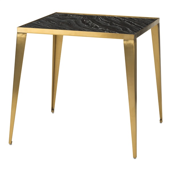 Mink Side Table (White Marble / Matte Black)