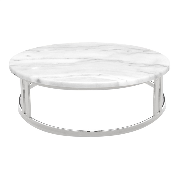 Nicola Coffee Table (Black Marble / Polished Stainless)