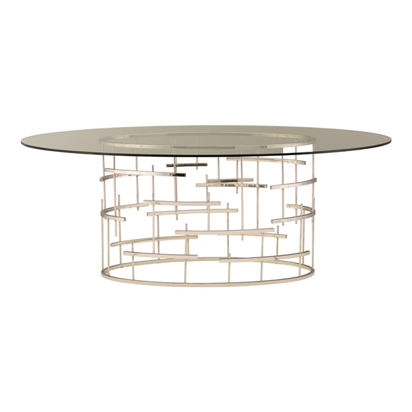 Oval Tiffany Dining Table - Gold