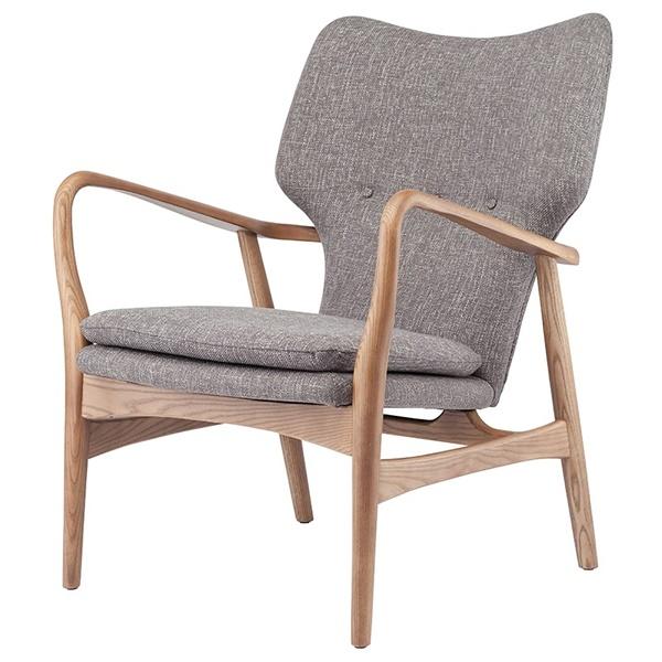 Patrik Lounge Chair (Dark Grey Tweed)