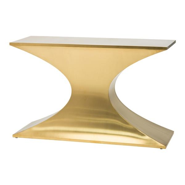 Praetorian Console Table (Polished Silver)