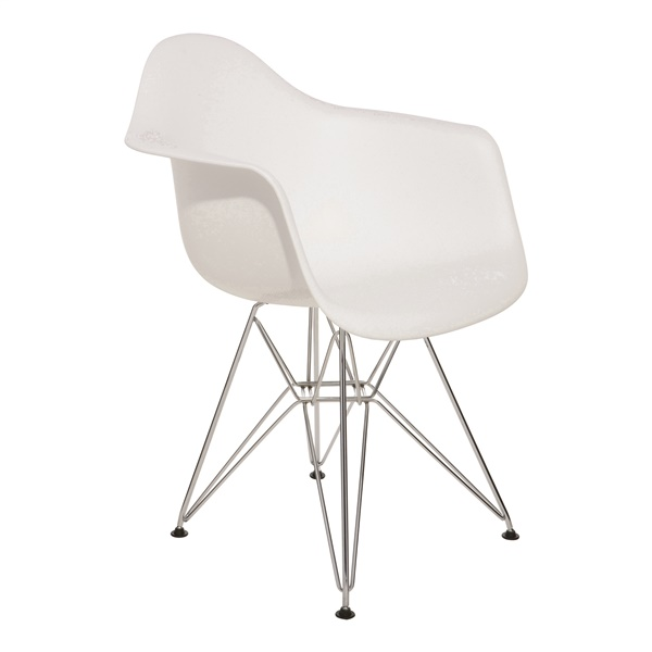 Ray Dining Chair (White / Silver)