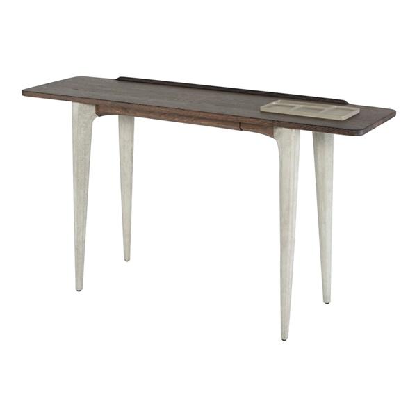 Salk Console Table (Seared Oak / Gray Concrete)