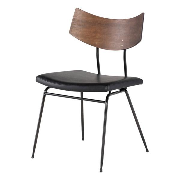 Soli Dining Chair (Black / Seared Oak)