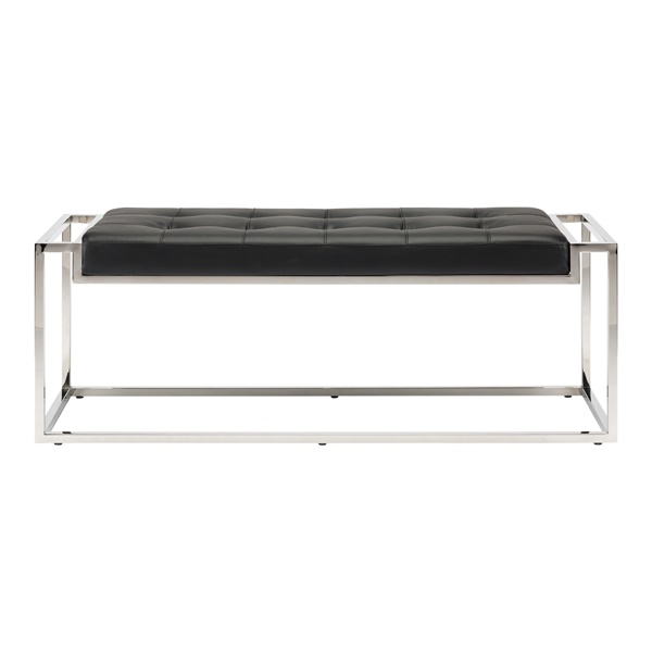 Step Occasional Bench (Small / Black / Silver)