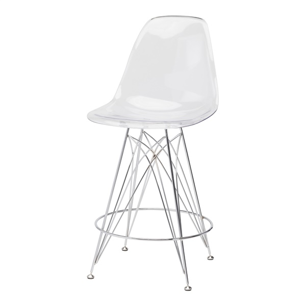 Stylus Counter Stool - Clear
