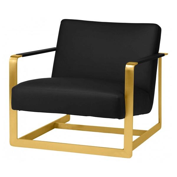 Suza Lounger Chair (White / Gunmetal)