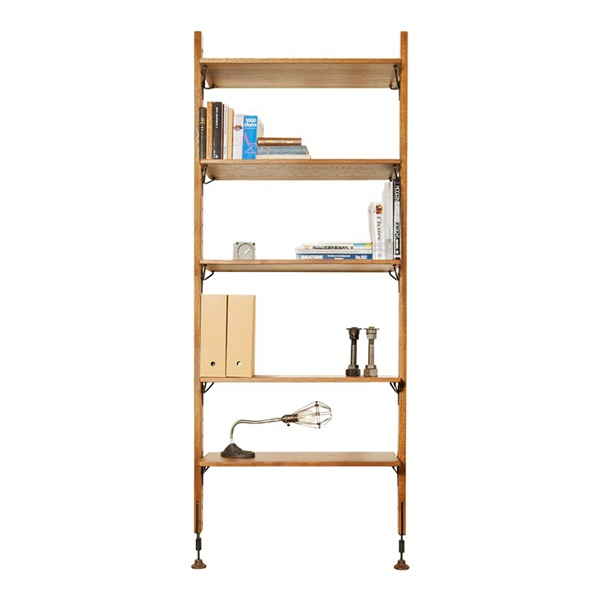 Theo Modular Shelving Unit with 5 Shelves (Small / Hard Fumed / Matte Black)