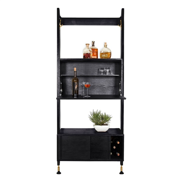 Theo Modular Shelving (Hard Fumed / Matte Black)