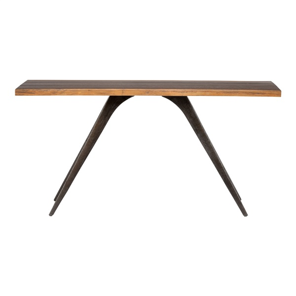 Vega Console Table (Seared Oak/Bronze)
