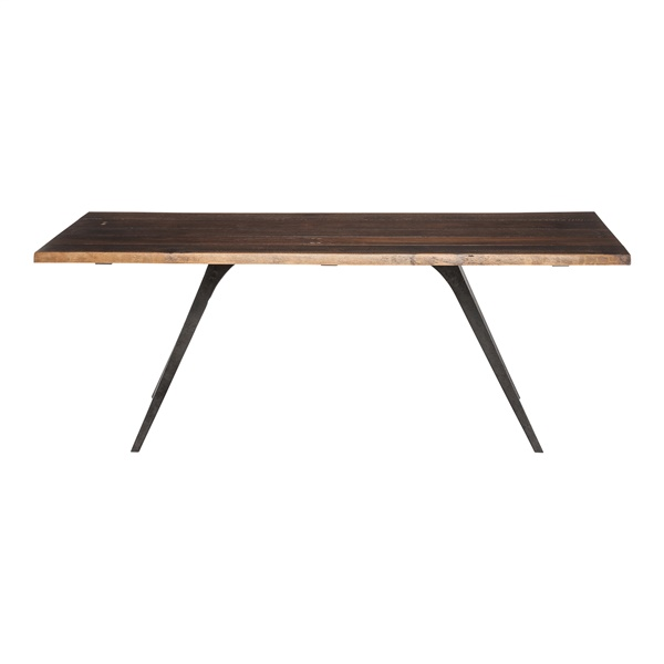 Vega Dining Table (Raw Oak / Black / 82.8in.)