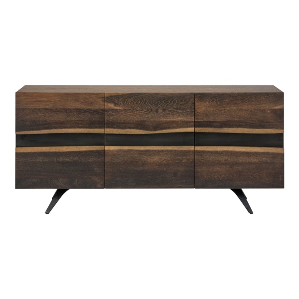 Vega Large Sideboard Cabinet Seared and Black - Seared and Black (Large)