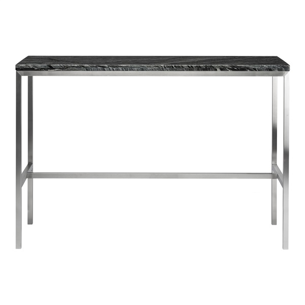 Verona Bar Table - Black and Silver (Small)