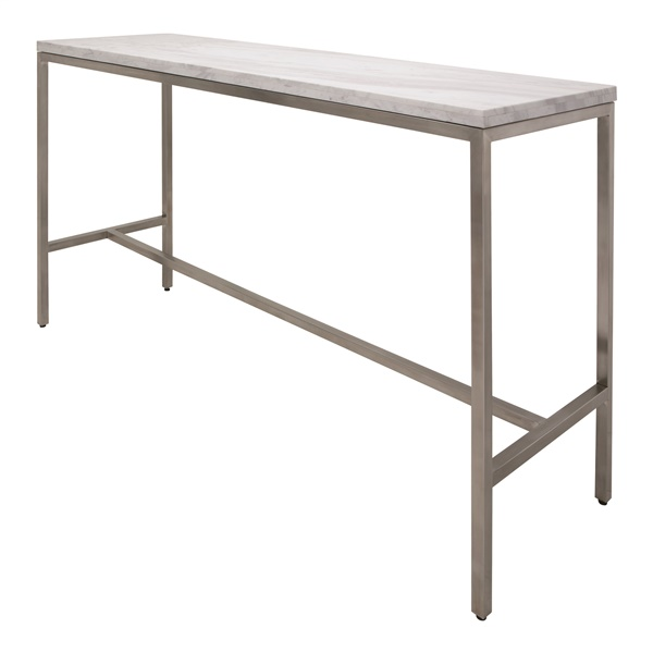 Verona Counter Table - White and Silver