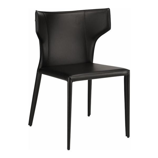Wayne Upholstery Dining Chair (Black)