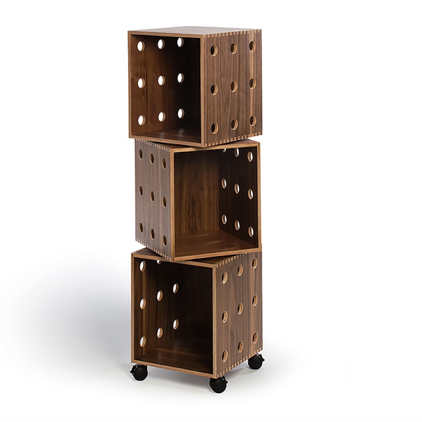 Walnut Perf Boxes (Stack of 3)