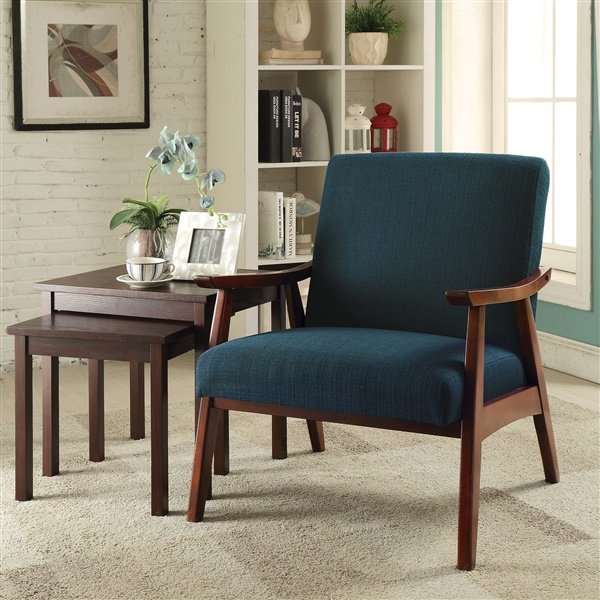 Davis Chair with Medium Espresso Frame (Klein Otter)