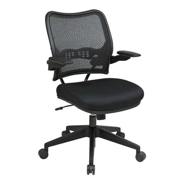 Deluxe AirGrid Back Chair with Black Mesh Seat
