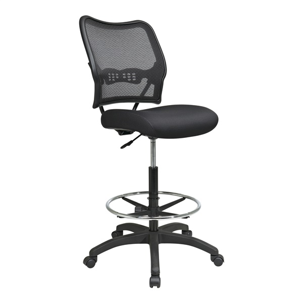 Deluxe AirGrid Back Drafting Chair with Black Mesh Seat