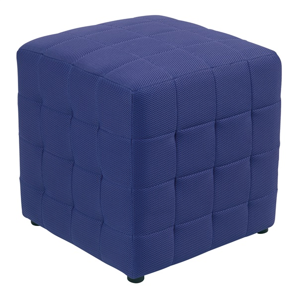 "Detour 15"" Fabric Cube Ottoman (Orange)"