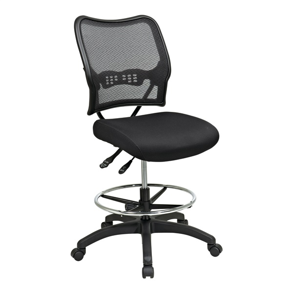 Deluxe Ergonomic AirGrid Back Drafting Chair with Mesh Seat