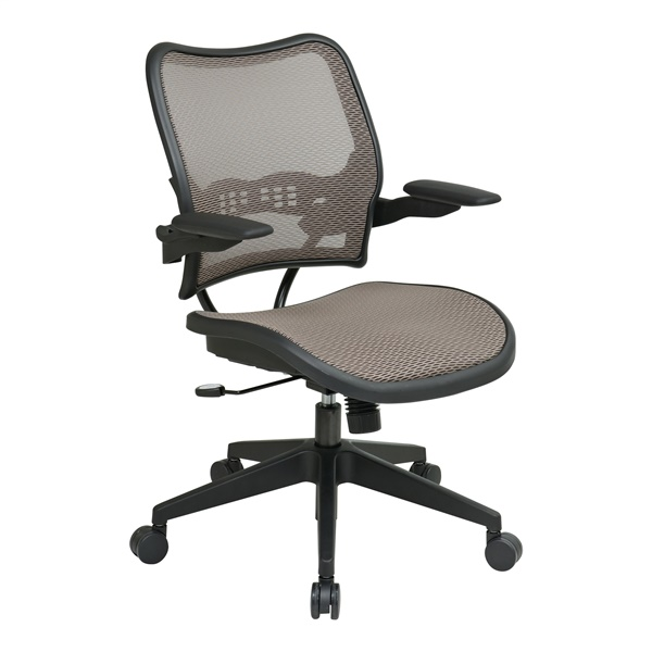 Deluxe Latte AirGrid Seat and Back Chair with Cantilever Arms