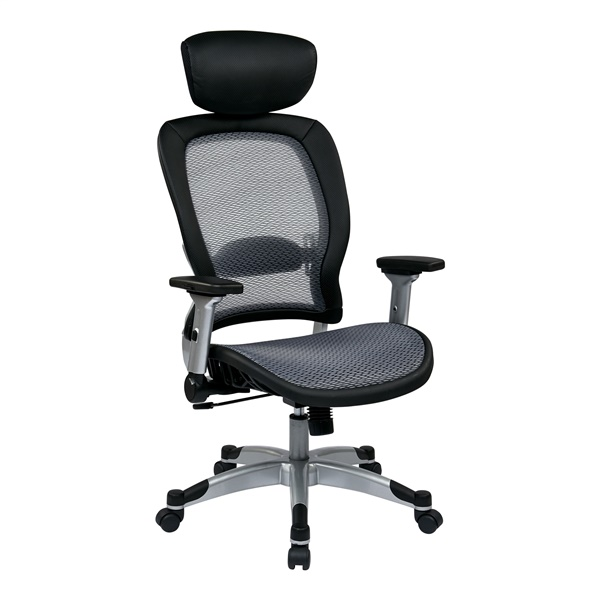 Professional Light AirGrid Back and Seat Chair with Headrest