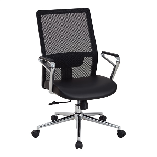 High Mesh Back and Bonded Leather Seat Manager's Chair