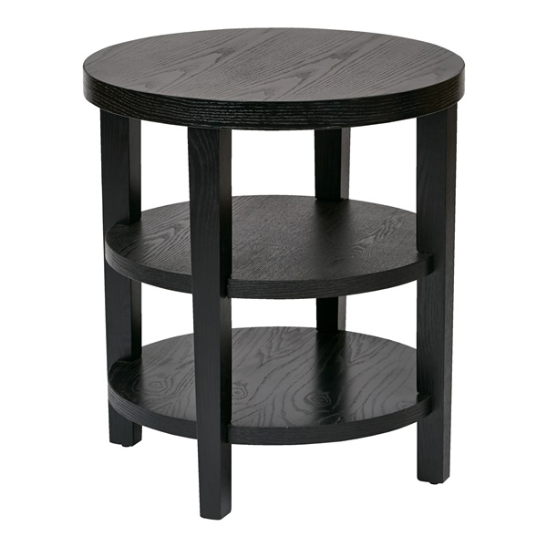 "Merge 20"" Round End Table (Espresso)"