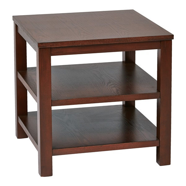 "Merge 20"" Square End Table (Cherry)"