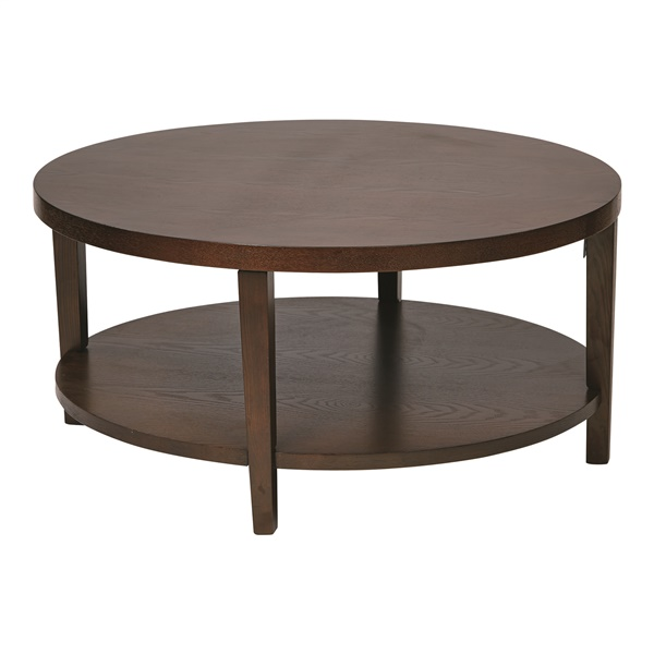 "Merge 36"" Round Coffee Table (Black)"