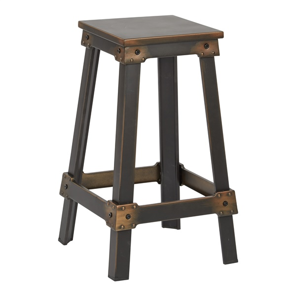 "New Castle 26"" Metal Bar Stool (Antique Black)"