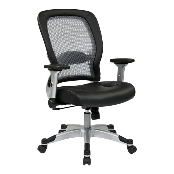 Professional Light AirGrid Back and Bonded Leather Seat Chair