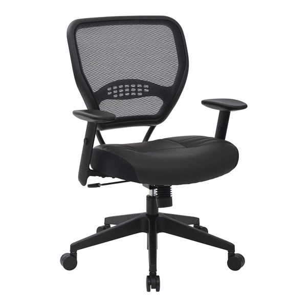 Professional Dark AirGrid Back Manager's Chair with Black Bonded Leather Seat