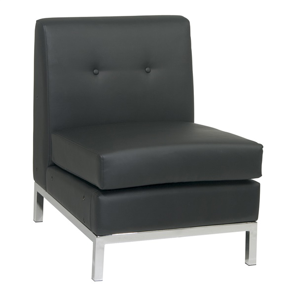Wall Street Armless Chair (Black)