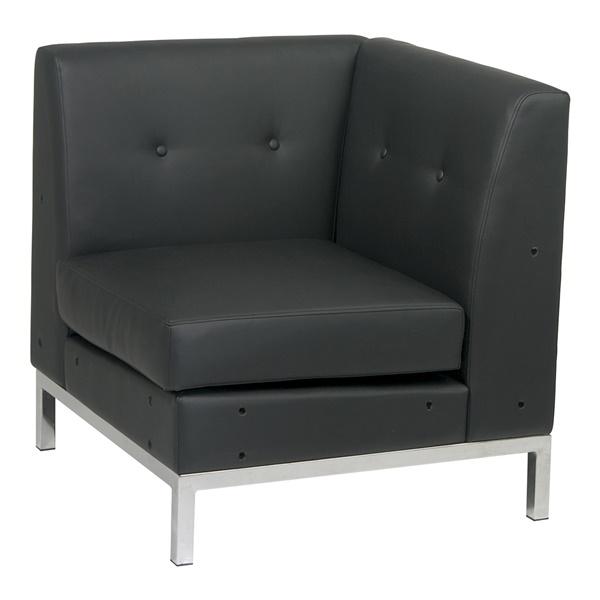 Wall Street Corner Chair (Black)