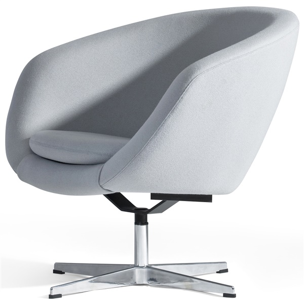 Overman Pod Chair (Black Leather)