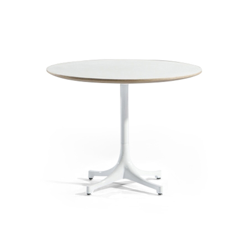 Pedestal Coffee Table (White Melamine)