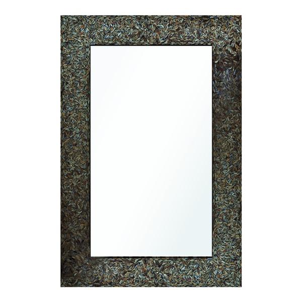 Amber Mosaic Mirror