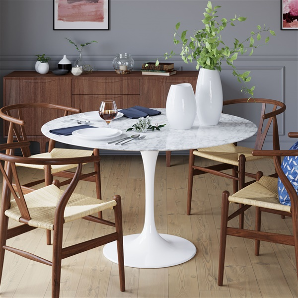 saarinen tulip round marble dining table - Saarinen Tulip Table