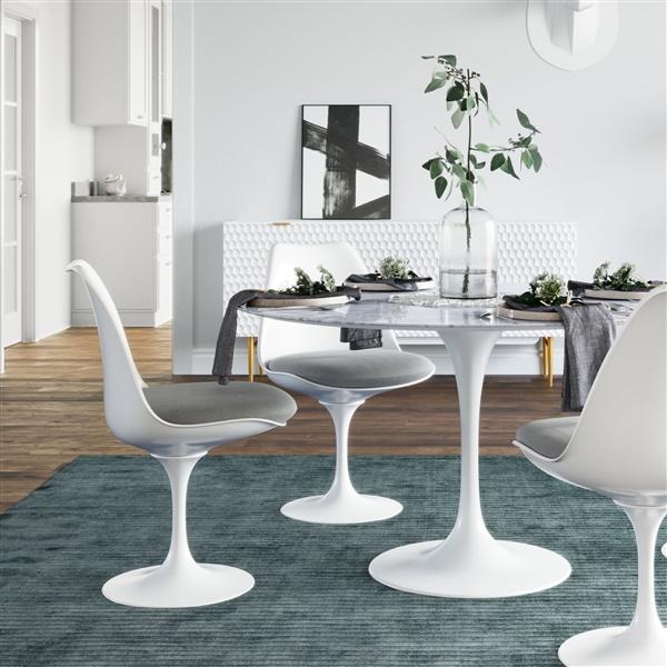Saarinen Tulip Side Chair (Burgundy)