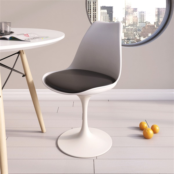 Saarinen Style Tulip Side Chair- Red Leatherette