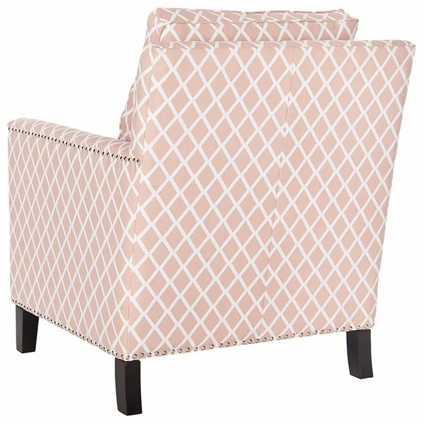 Buckler Club Chair (Peach Pink/White)