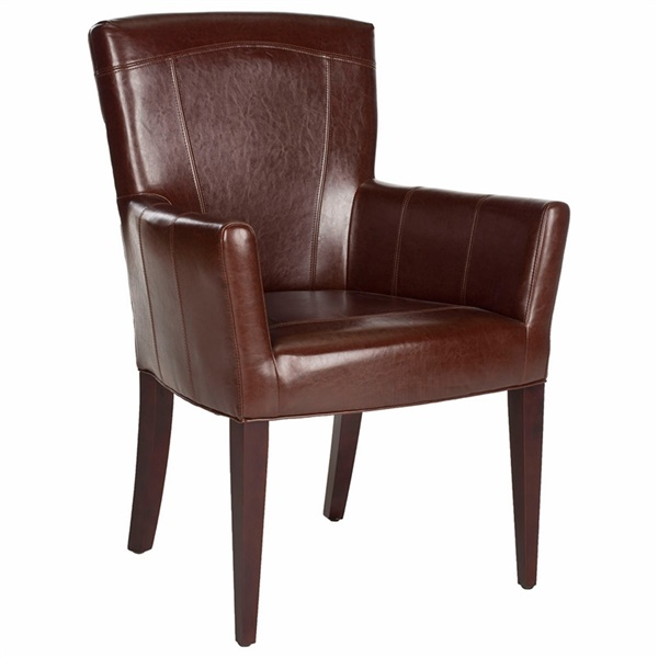 Dale Arm Chair (Brown Leather)