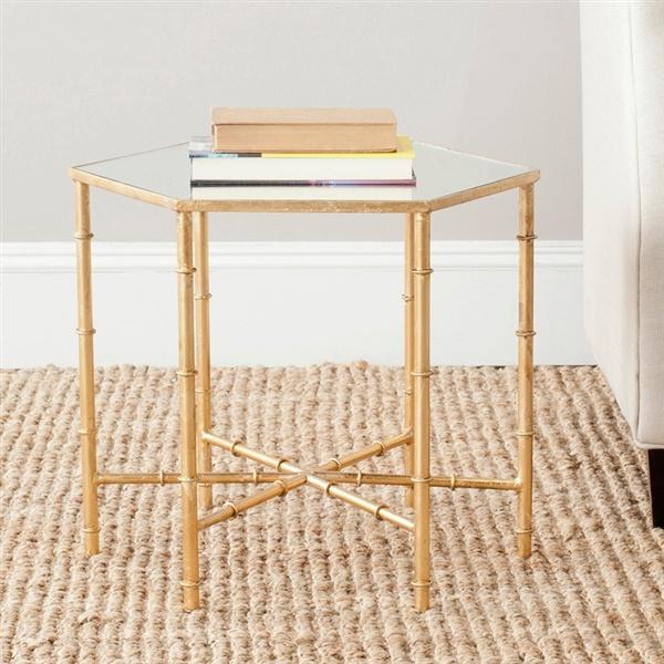 Kerri Accent Table (Gold/Mirror Top)