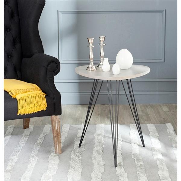 Wolcott Side Table (Grey/Black)
