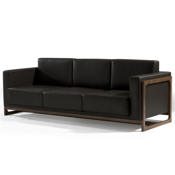 Sean Dix Bravura Sofa (Dark Chocolate Brown Leather)